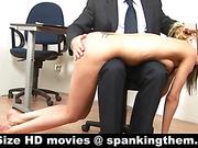 Knelt and OTK spanking