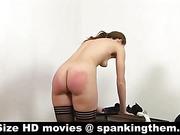Aching scarlet buttocks