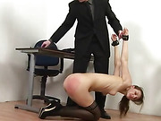 Cuffed whipping in office