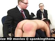 Nude painful OTK punishment