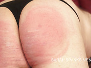 Blonde mistress spanks