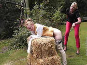 Country female spanking