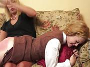Mom slapped a blonde