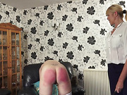 Mature woman punished
