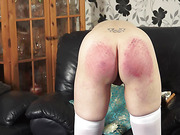 Mature wench caned