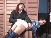 Stephanie locke spanks Cheyenne part 1