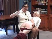 Eve spanks Leela