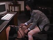 Hot Blonde Lesbian Spanked