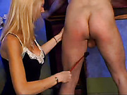Blonde Wife Spanks Her Partner
