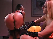 Busty Lesbians Spanked