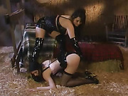 Lesbians in Lingeries Spanked