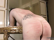 Lussy was bandaged in a hotel room and bullwhipped hard.