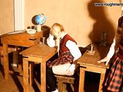 Blonde schoolgirl