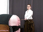 Administering a caning