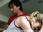 Beautiful Kylee Anders spanked bare and hard