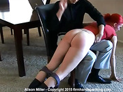 Bouncing bare bottom soundly spanked for not fulfilling her
