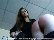 Hot sorority spanking as Dani Daniels fires up Belinda