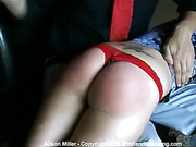 Spanked for blowing off a fan at a public event