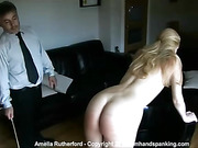 18- stroke nude caning