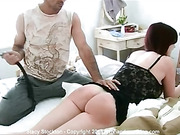 Stacy Stockton spanked and whipped bare for throwing out