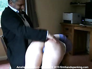 Amelia Rutherford on top spanking