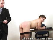 Big secretary ass flogged and slapped