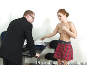 Redhead college girl punished mercilessly