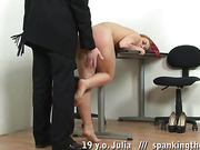 College upskirt and maledom OTK spanking