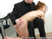 Teen ass whipped before bdsm masturbation