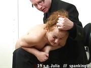 Teen ass whipped before bdsm masturbation