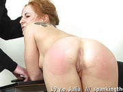 Teen rule-breaker spanked before masturbation