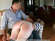 Bottom spanking for reporter Portia Marlowe