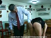 36 strokes with a yard stick make Camilla Scott's bottom