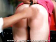 Long hard spanking for Alison Miller