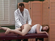 Karen Just arrives on Dr. Ramsay's examination table