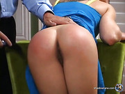 Kitty endures more spanking, both with hand and leather