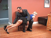 Consultation and Arthur spanks Violet