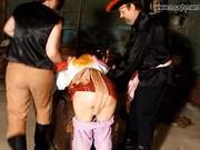 Brunette gets hard spanking