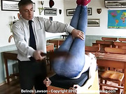 Belinda Lawson's bottom spanked hard