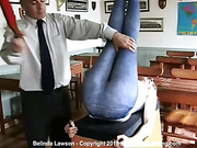 Belinda Lawson's bottom spanked hard