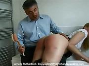 Blistering bathroom spanking