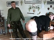 24-stroke military caning for Belinda Lawson