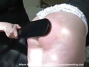 Alison Miller can take a spanking