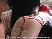 Alison Miller's buttocks bounce
