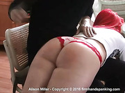 Alison Miller's buttocks bounce