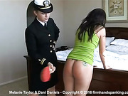 Spanked for missing drill