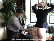 Spanked bare bottom with a ping pong paddle