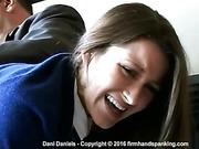 Dani Daniels goes over the principal's knee