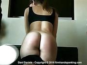 Stunning gymnast Dani Daniels spanked bare bottom