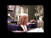 Amelia Rutherford stripped totally nude and caned